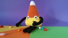 Candy Corn amigurumi kawaii -  Halloween - Juguete - Crochet - 100% hecho a mano. de GateandoCrochet en Etsy