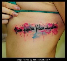 side-rib-abstract-script-tattoo.jpg (530×486) A watercolor background to the script!