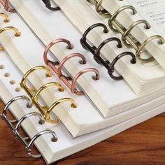 Chris-Wang 10Pcs Metal 3-Ring Binding Spines Combs, Loose...