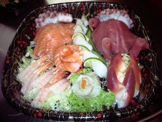 who's up for some fish delights! sashimi heaven ready to servee Sashimi, Cobb Salad, Cravings, Heaven, Fish, Cooking, Kitchen, Sky, Kochen