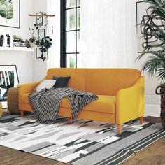 Living Room Sofa, Living Room Furniture, Furniture Decor, Apartment Furniture, Steel Furniture, Accent Furniture, Office Furniture, Yellow Couch, Pink Sofa