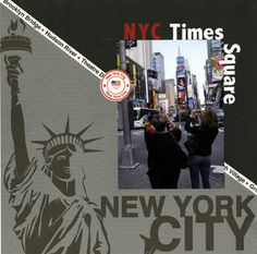 New York Scrapbooking Page Layout.
