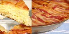 Everything is better with a little bacon -- even mornings. refrigerated pie crust 2 cups whole milk 4 large eggs 3 green onions, sliced 1 cup shredded cheddar cheese 3 slices thick cut bacon, cooked and crumbled 2 cups frozen hash browns, thawed 3/4 teaspoon salt 1/4 teaspoon freshly ground black pepper 10 slices thick cut bacon maple syrup, for brushing