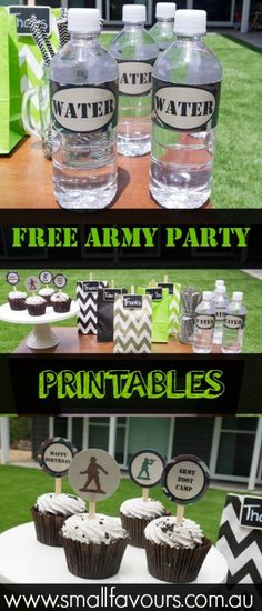 Army Party Ideas with Free Printables | www.smallfavours.com.au