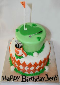 8th birthday party - Mini Golf on Pinterest  Golf Cakes, Golf Party ...
