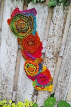 Crochet Scarf Unique Capelet Rainbow scarf Neck Warmer by Degra2