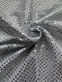 """44/45"""" Silver Dot Sequin Fabric By The Yard Sequin Fabric, Fabric Decor, Dots, Sequins, Yard, Model, Silver, Style, Stitches"""