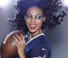 Here Are 8 More Disturbing Photoshopped Ads Urging CoverGirl To Stop Sponsoring The NFL Dallas Cowboys Makeup, Dallas Cowboys Football, Football Baby, Makeup Inspo, Beauty Makeup, Dez Bryant, Cow Boys, How Bout Them Cowboys, Game Face