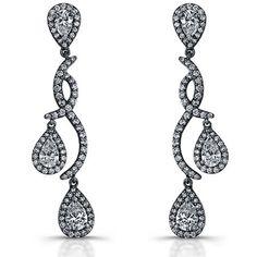 14k White Gold Pear Shaped Diamond Earrings Call for Price!