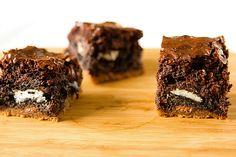 Chocolate Chip Cookie and Oreo Fudge Brownie Bar