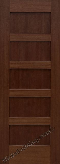 Solid Panel Mahogany Interior Doors Only Pre Hung