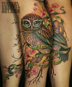 Teresa Sharpe- Owl tattoo I love!!!