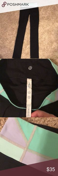 Lululemon yoga pant Worn only once! Lulu yoga pants. Not sure of the style but they are really long and I assume are made to cover half your foot for yoga. Really comfortable and in excellent condition lululemon athletica Pants Track Pants & Joggers