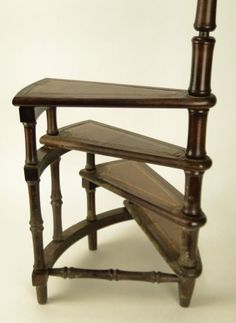 70 VINTAGE MINIATURE SPIRAL STAIRCASE LIBRARY STEPS On