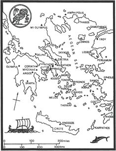 ancient greece map vs modern greece map. Black Bedroom Furniture Sets. Home Design Ideas