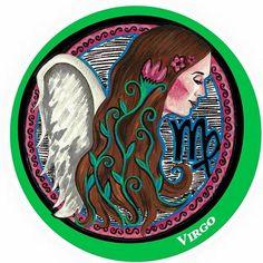 Virgo Zodiac 5x7 Acrylic Fantasy Art Portrait by LauraGraceArt