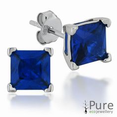 Sapphire CZ Square Prong Set Stud Earrings in Sterling Silver - 6mm for sale at Walmart Canada. Get Jewellery & Watches online for less at Walmart.ca