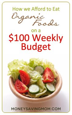 How We Afford to Eat Organic Foods on a 100 Weekly Budget this post is packed with practical ideas and great tips for eating well on a small budget Budget Meals, Weekly Budget, Budget Recipes, Cooking Tips, Cooking Recipes, Whole Food Recipes, Healthy Recipes, Recipes Dinner, Paleo Meals