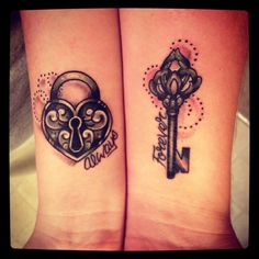 wanna get this with my brother. Our bond is under lock and key. Me with the lock and him with the key