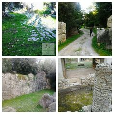 #cosa roman city in #ansedonia the great gates with enormous stones making up the walls and road amazing around 1300 years old.