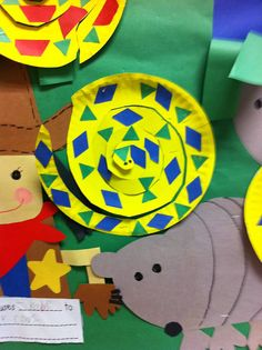 Africa theme with animal print stickers. Preschool kids precut , Pre K and Kinder they cut the circle