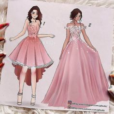 Fashion Drawing The first looks like a dress I would wear and the second looks like what my OC would wear Clothes Design Drawing, Dress Design Drawing, Dress Design Sketches, Fashion Design Sketchbook, Fashion Design Drawings, Fashion Sketches, Wedding Dress Sketches, Dress Illustration, Fashion Illustration Dresses