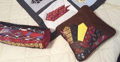 Pillows made from neckties Neckties, Quilts, Pillows, Pattern, Bags, Design, Fashion, Handbags, Moda