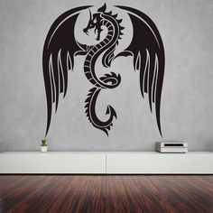 Dragon Wall decal Mythology wall decal Chinese by StickersForAll