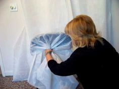 How to make chair covers. Easy 1 , 2 , 3 way to emblelish the ugly folding chairs and dress up your event. Although they can be used with similiar chairs. We supply you with the signature pattern and instructions and you can make for your own wedding or make money for home selling your completed chair covers. We do not supply the material to...