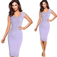 Sexy Elegant Floral Flower Lace Cap Slim Casual Party Fitted Sheath Bodycon Dress