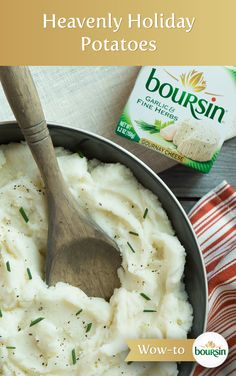 Give your family and friends the best present – simply mix Boursin cheese into your classic mashed potatoes recipe.
