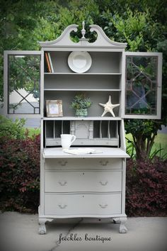 Antique Secretary painted in Annie Sloan's by twosmallredheads, $495.00