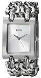 GUESS Womens G75916L Brilliance on Links Silver-Tone Watch with Link Bracelets