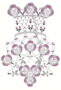 How to read this kind of pattern? Crochet Doily Diagram, Crochet Edging Patterns, Crochet Mandala, Tapestry Crochet, Baby Knitting Patterns, Crochet Motif, Crochet Designs, Crochet Flowers, Crochet Lace