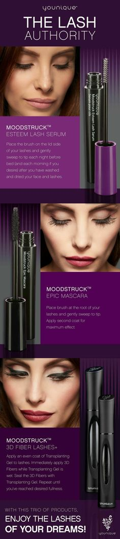 With the Younique Lash Trio products, enjoy the eye lashes of your dreams. With the Younique Lash Trio products, enjoy the eye lashes of your dreams. Makeup Tips Younique, Younique Epic Mascara, Mascara Brush, Party Younique, Younique Lipstick, Makeup Tricks, Best Makeup Tips, Best Makeup Products, Tips And Tricks