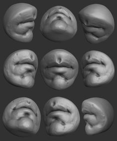 ArtStation - Mr. Mouth - How To Sculpt The Mouth In Blender, Yanal Sosak Zbrush Anatomy, 3d Anatomy, Anatomy Sketches, Anatomy Poses, Anatomy Drawing, Mouth Drawing, Drawing Heads, Sculpture Techniques, Drawing Techniques