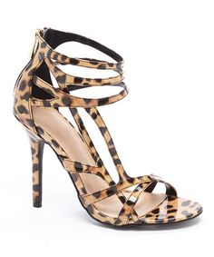 Leopard Frances Sandal by Wild Diva