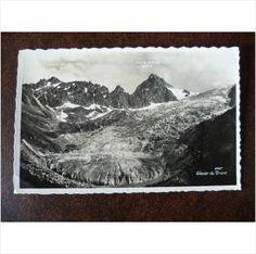 Switzerland 1939 Glacier du Trient Perrochet Real black and white Photograph unused Postcard Orny Ecandies Mountains