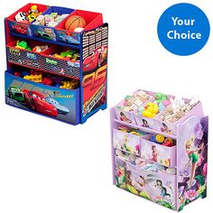 Character Corner - Toddler/Kids' Playroom Multi-Bin Toy Organizer (Select Favorite Character)