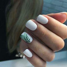 Basic Nails, Cute Nail Art Designs, Beach Nail Designs, White Nail Designs, Cute Acrylic Nails, Pastel Nails, Stylish Nails, Nail Colors, Manicure Colors