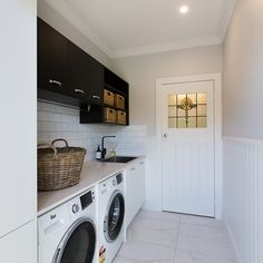 Scott & Nadia present this laundry in their battle with Lisa and John in the finale of Reno Rumble Laundry Room Inspiration, New Homes, Laundry Mud Room, Room Planning, Home, Laundry Bathroom Combo, Laundry Room Design, Utility Rooms, House Inspo