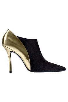magnifiques low boots roger vivier dorées et noires