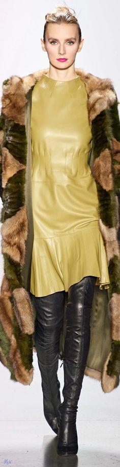 All Fashion, Fashion Show, Dennis Basso, Fashion Labels, Stylish Girl, Glamour, Leather Fashion, Fashion Bloggers, Fashion Trends