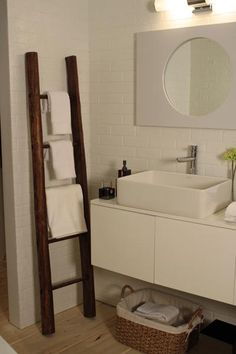 Unique Towel Rail - A unique take on the usually plain #bathroom towel rail.