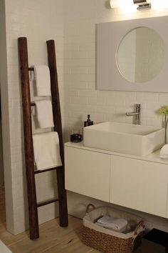 Unique Towel Rail - A unique take on the usually plain #bathroom towel rail.