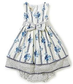Laura Ashley London Baby Girls 12-24 Months Floral Printed Bow Dress