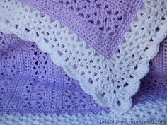A lacy, girly baby blanket perfect for beginners! Uses only basic stitches, but comes out looking far more intricate. Adeline Baby Blanket by bright and scrappy -- free pattern at Ravelry. Crochet Baby Blanket Free Pattern, Baby Afghan Crochet, Crochet Motifs, Manta Crochet, Baby Afghans, Easy Crochet, Free Crochet, Knit Crochet, Crochet Patterns