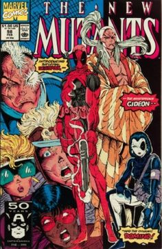 1991 Series Marvel The New Mutants appearance of Deadpool Gideon and Domino Impersonated by Copycat. Cover pencils by Rob Liefeld. The Beginning of the End Part One script by Rob Liefeld plot and Fabian Nicieza script art by Rob Liefeld. Dead Pool, Deathstroke, Ryan Reynolds, Marvel Comic Books, Comic Books Art, Book Art, Gi Joe, Dc Universe, Comics