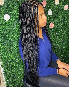 Big Box Braids Hairstyles, Braids Hairstyles Pictures, Slick Hairstyles, Black Girl Braids, Braided Hairstyles For Black Women, African Braids Hairstyles, Baddie Hairstyles, Braids For Black Hair, Weave Hairstyles