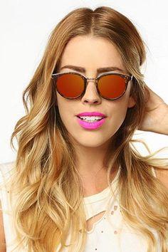 'Ferrara' Round Color Mirror Clubmaster Sunglasses - Black/Blue - 5496-1